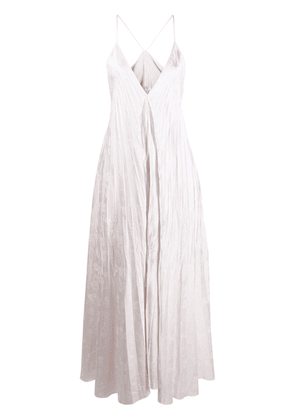 Forte Forte long pleated dress - White