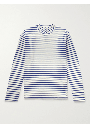 ALEX MILL - Touch Down Striped BCI Cotton-Jersey T-Shirt - Men - Blue - XS