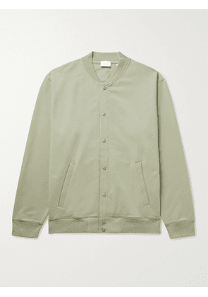 HANDVAERK - Flex Stretch-Pima Cotton Bomber Jacket - Men - Green - M