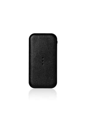 Courant - Carry Leather Wireless Phone Charger - Color: Grey - Material:  Aluminum Alloy; Italian Leather; Nylon - Moda Operandi