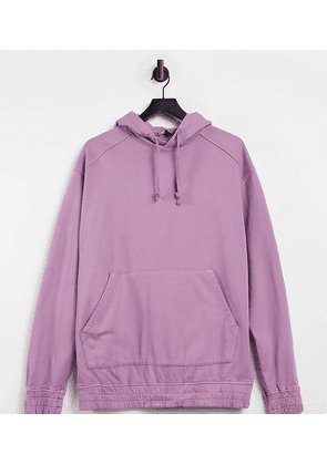 ASOS DESIGN Tall oversized hoodie in washed purple
