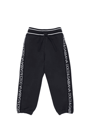 Cotton Sweatpants W/ Logo Bands