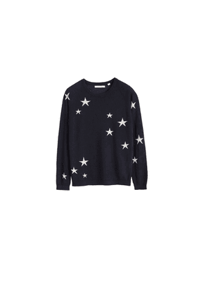 Chinti & Parker Navy Star Cashmere Sweater