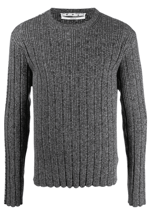 Off-White Arrow band ribbed knit jumper - Grey