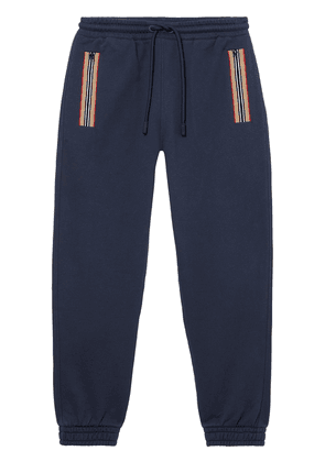 Burberry Icon stripe detail track trousers - Blue