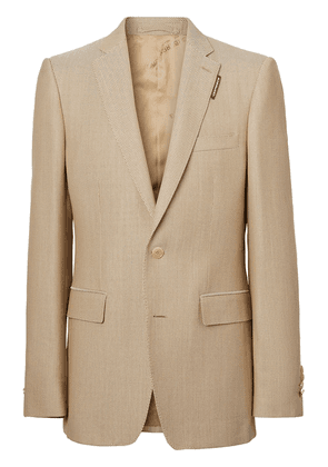 Burberry English-fit tailored jacket - Brown