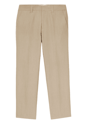 Burberry technical canvas tailored trousers - Neutrals