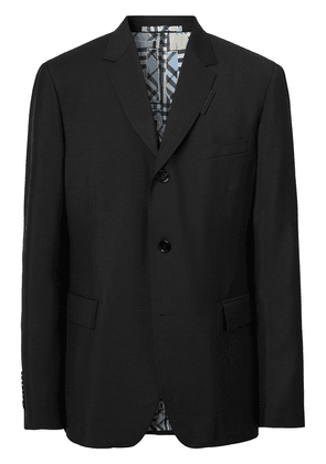 Burberry single-breasted wool blazer - Black