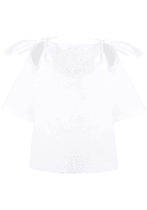 Erika Cavallini knotted cut-out blouse - White