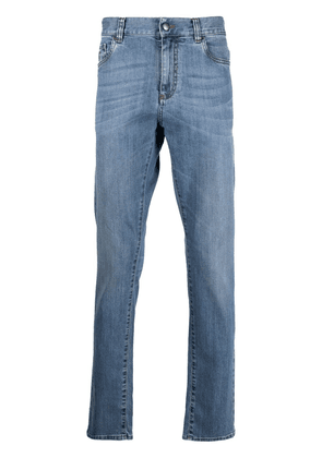 Canali mid-rise straight leg jeans - Blue