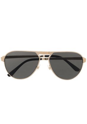 Cartier Eyewear CT0265S aviator-frame sunglasses - Gold