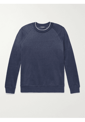 LORO PIANA - Drysdale Linen-Blend Jersey Sweatshirt - Men - Blue - XS