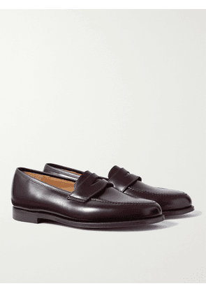 GEORGE CLEVERLEY - Bradley Leather Penny Loafers - Men - Burgundy - 6