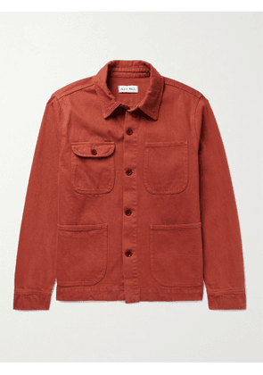 ALEX MILL - Garment-Dyed Cotton-Twill Chore Jacket - Men - Red - M