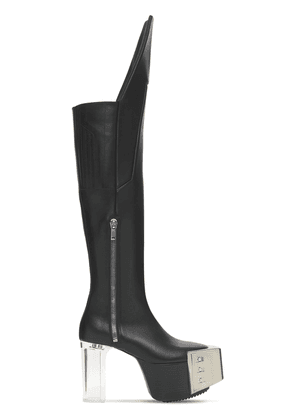120mm Waders Platform Leather High Boots