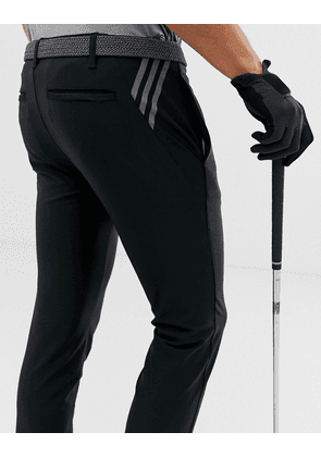 adidas Golf Ultimate 365 3-stripe tapered trousers in black
