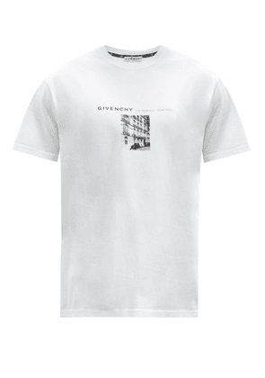 Givenchy - Photographic Logo-print Cotton-jersey T-shirt - Mens - White