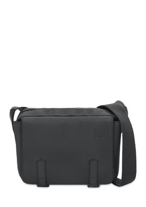 Xs Grain Leather Military Messenger Bag