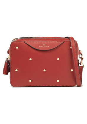 Anya Hindmarch Studded Leather Shoulder Bag Woman Brick Size --