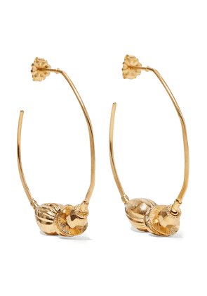 Chan Luu Gold-plated Hoop Earrings Woman Gold Size --