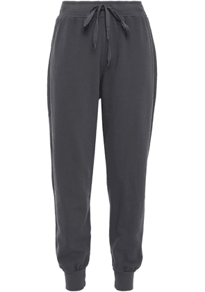 Clu French Cotton-terry Track Pants Woman Dark gray Size M