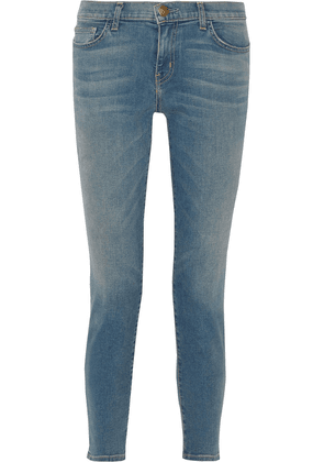 Current/elliott The Easy Stiletto Faded Low-rise Skinny Jeans Woman Mid denim Size 27