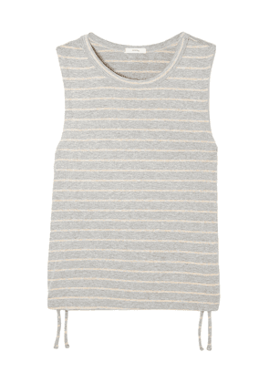 Eberjey Logan Striped Ribbed Stretch-jersey Tank Woman Stone Size L
