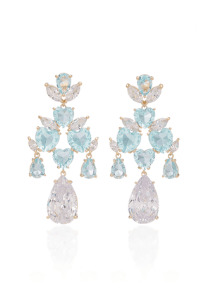 FALLON - Women's 'Candy' Crystal-Embellished Gold-Plated Earrings - Multi - Moda Operandi