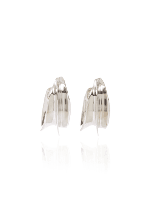 Brandon Maxwell - Women's x Kenneth Jay Lane Silver-Tone Hoop Earrings - Silver - Moda Operandi
