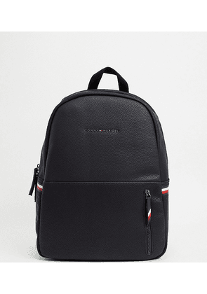 Tommy Hilfiger exclusive to ASOS faux leather backpack in black with logo