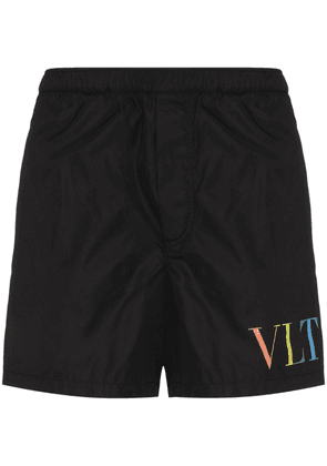 Valentino VLTN elasticated-waist swim shorts - Black