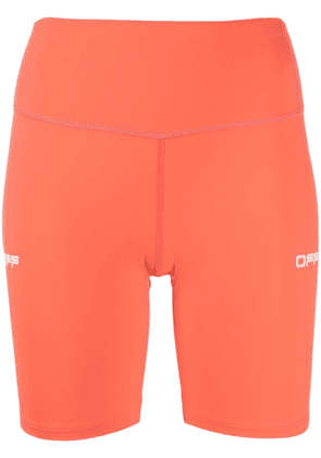 Off-White compression cycling shorts - Orange