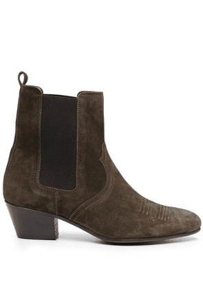 Closed suede ankle boots - Green