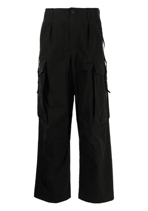 Attachment loose-fit trousers - Black