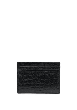 Burberry embossed leather cardholder - Black