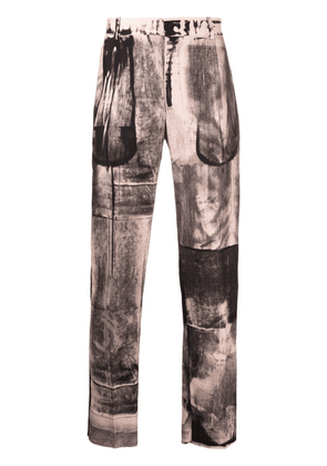 Alexander McQueen X-Ray print tailored trousers - Pink