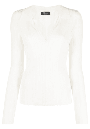 Blumarine knitted polo top - Neutrals