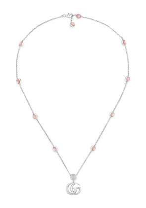 Gucci Double G mother of pearl necklace - Silver