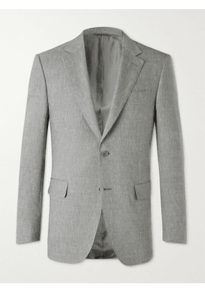 CANALI - Linen and Wool-Blend Suit Jacket - Men - Gray - IT 46