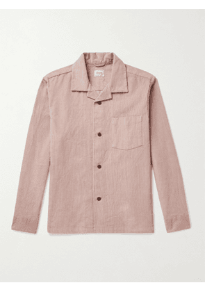 BELLEROSE - Goney Camp-Collar Cotton-Corduroy Overshirt - Men - Pink - M