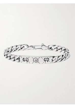 GUCCI - Ghost Engraved Sterling Silver ID Bracelet - Men - Silver - S