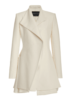 Brandon Maxwell - Women's Layered Wool-Silk Mini Blazer Dress - White - Moda Operandi
