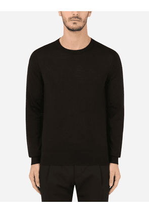 Dolce & Gabbana Collection - Cashmere round-neck sweater BLACK male 46