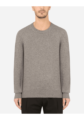 Dolce & Gabbana Collection - Cashmere round-neck sweater GREY male 44