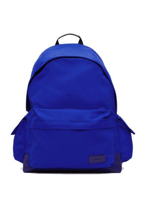Juun.J Blue Canvas Side-Pocket Backpack