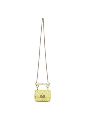 Valentino Garavani Yellow Small Rockstud Spike Bag