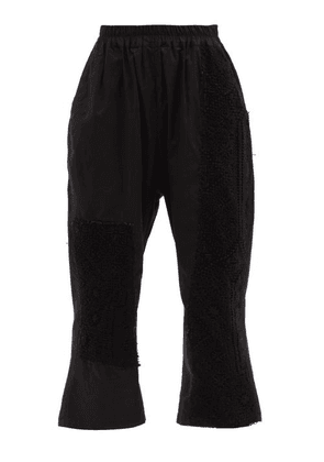 By Walid - Juan Embroidered Upcycled-cotton Trousers - Womens - Black