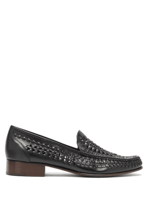 Saint Laurent - Swann Moccasin Leather Loafers - Mens - Black