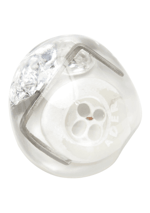 ADER error White and Silver Button Single Earring