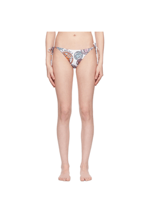 Versace Underwear White Medusa Amplified Print Bikini Bottoms